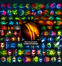 Mega collection of 100 glowing effect vector