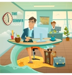 Office dreams vacation vector