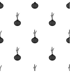 Onion icon black singe vegetables icon from the vector