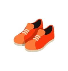 Orange sneakers icon isometric 3d style vector image vector image
