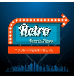 Retro motel sign with copyspace vector image vector image