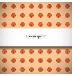 Seamless pattern with basketball balls vector image vector image