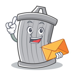 with envelope trash character cartoon style vector image