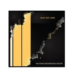 yellow black halftone vector image vector image
