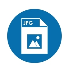 Jpg file icon vector