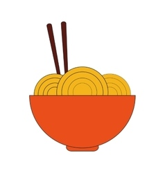Noodle bowl fast food design vector
