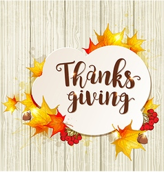 Greeting card for thanksgiving day vector