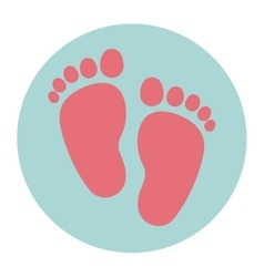 Isolated baby foot print design vector