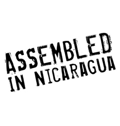 Assembled in nicaragua rubber stamp vector