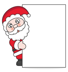 Santa claus with poster vector
