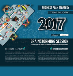 Infograph brochure template with hand drawn vector