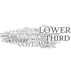 Lower word cloud concept vector