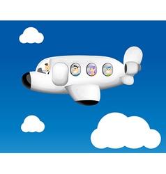 Cartoon plane flying vector image
