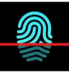 Fingerprint identification system - loop type icon vector