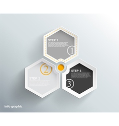 3 cards with numbers and place for your text vector image vector image