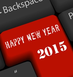 Happy new year on enter keyboard vector