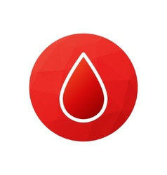 Blood donation symbol or logo vector