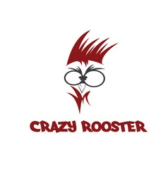 Head of crazy rooster vector