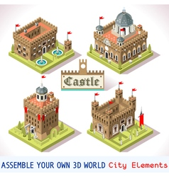 Castle 01 tiles isometric vector
