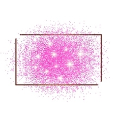 Frame for text and brilliant pink sand vector