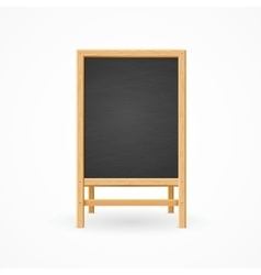 Menu black board isolated vector