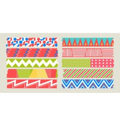 Masking tape graphic set vector