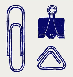 A paper clip vector
