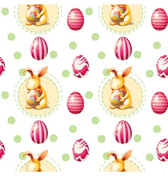 A seamless easter sunday template vector