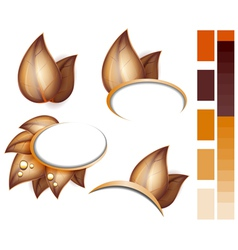 aAutumn leaves icons set vector image vector image