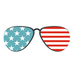 American glasses icon isolated vector