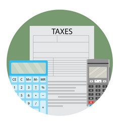Annual tax calculation vector