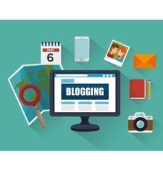 Blog management design vector