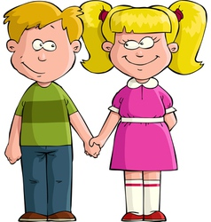 boy with girl vector image