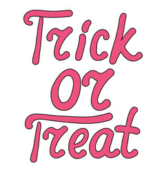 cartoon word trick or treat isolated on white vector image vector image