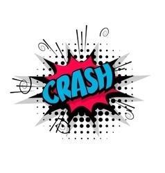 Comic text pop crash art bubble vector