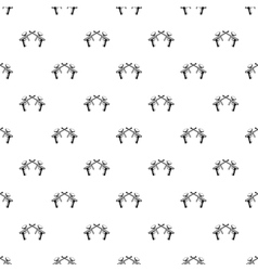 Crossed paintball guns pattern simple style vector