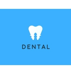 Dentist logo design template Tooth creative vector image vector image