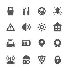 Device security icon set vector