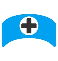 Doctor cap icon vector