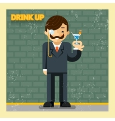 Drink up concept vector