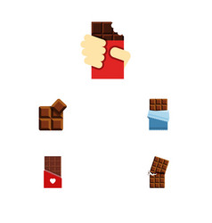 Flat icon bitter set of shaped box chocolate vector
