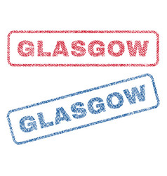 Glasgow textile stamps vector