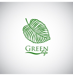 Green life doodle leaf like logo icon vector