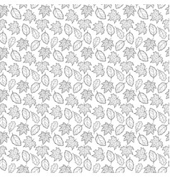 Leaves seamless black and white big vector