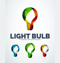 light bulb abstract symbols new idea vector image vector image