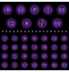 Light Font vector image vector image