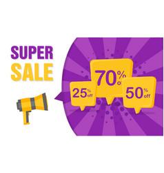 Megafon announces big discounts vector