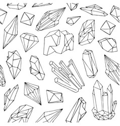 monochrome seamless pattern with beautiful faceted vector image vector image