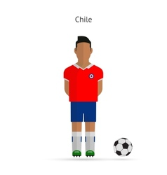 National football player Chile soccer team uniform vector image vector image