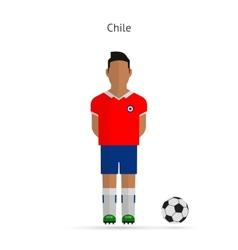 National football player chile soccer team uniform vector